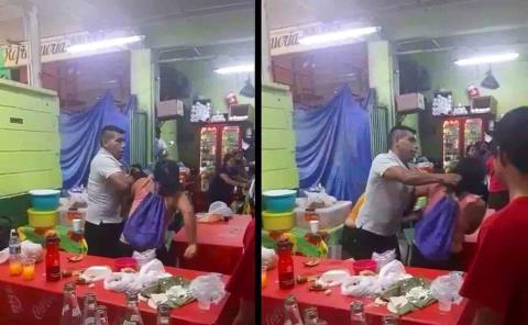 Pelearon dos mujeres por un hombre en pleno Mercado