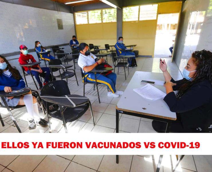 Profesores a las aulas: ´ya están vacunados contra el COVID´