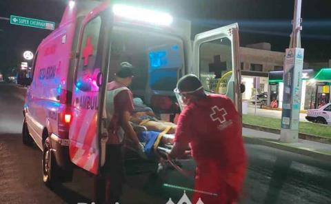 Mujer herida  en accidente