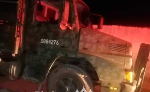Soldados provocaron  aparatoso accidente