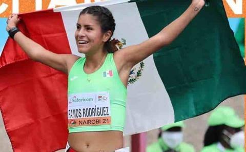 Mexicana Sofía Ramos oro en 10 KM Marcha