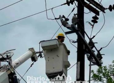 Familias se quedan sin energía eléctrica