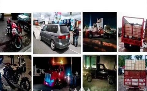 Policías recuperan seis autos robados