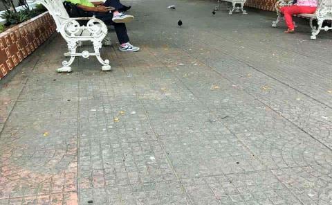 Retiran ebrios de la Plaza Principal