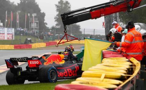 Checo se perdió el GP de Bélgica