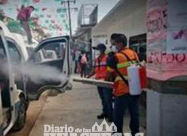 Continúa sanitizando el transporte público