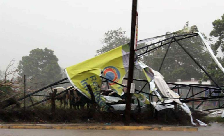 Huracán Nora dejó a cientos de afectados