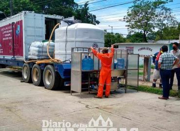 Instalaron planta móvil potabilizadora de agua
