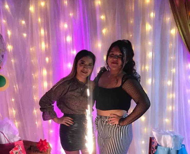 Festejaron juntas Yuli y Perla Barrios