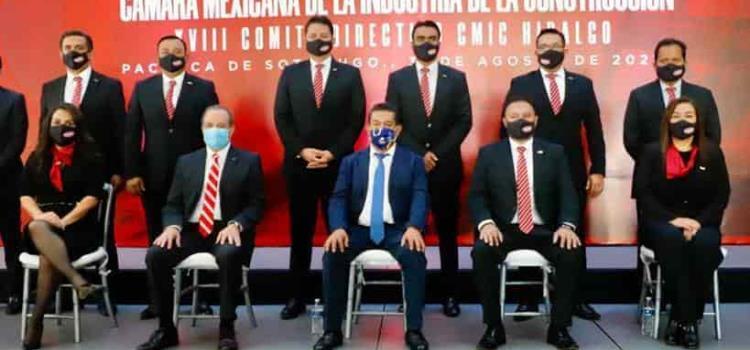 Tomó protesta al comité CMIC Hidalgo