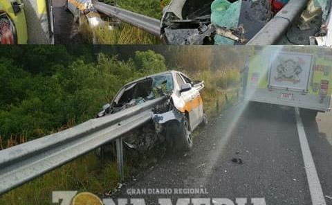Taxista murió en accidente