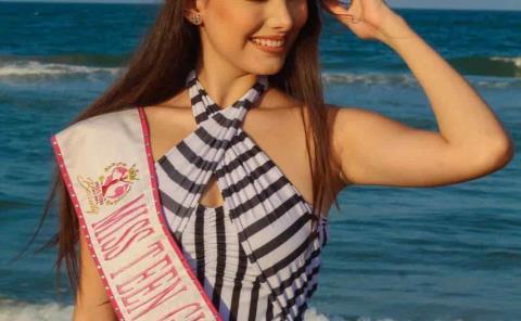 Chica de Huehuetlán a certamen de belleza