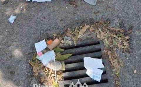 Piden tirar basura en las alcantarillas
