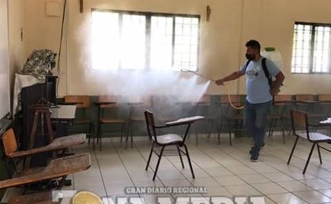 Sanitizaron las escuelasq