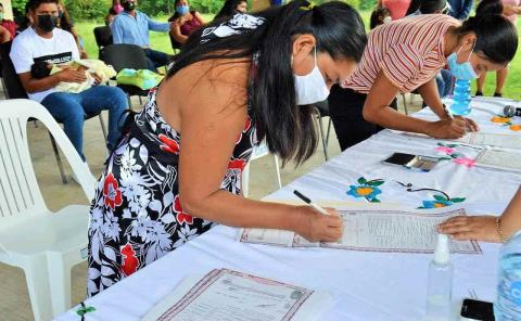18 bodas colectivas en la zona indígena