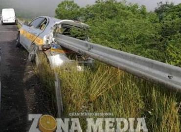 Barra metálica en carretera es mortal