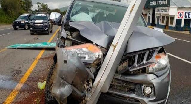 Presidente de Huautla protagonizó accidente