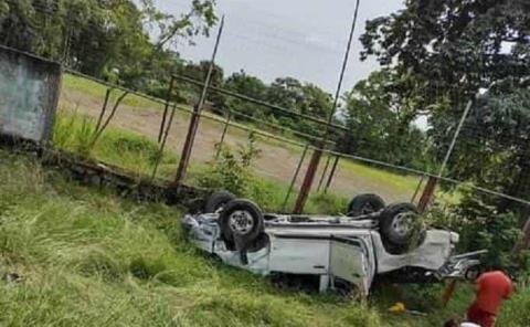 6 lesionados en  fuerte accidente