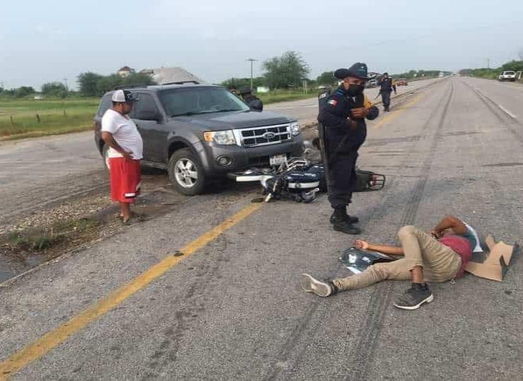 ´Troca´ embistió a un motociclista