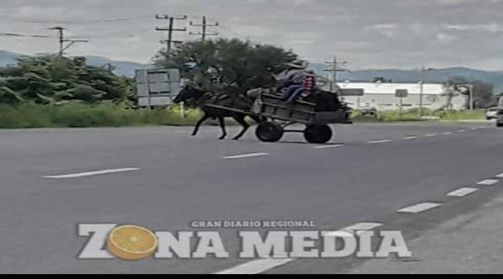 Carretonero a punto de causar choque