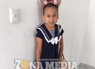 8 años de nacida cumplió Camila