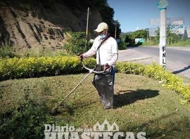 Personal de Ecología realizó mantenimiento