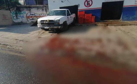 En rastro... sangre en calle foco de infección