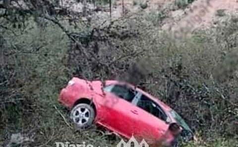 Vehículo cayó a un barranco