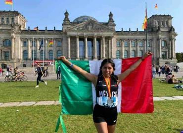 Joven participó en Maratón Berlín 2021