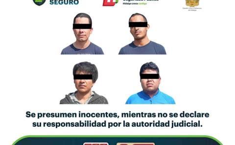 Por presunto narcomenudeo, asegura SSP Hidalgo a cuatro individuos en Mixquiahuala