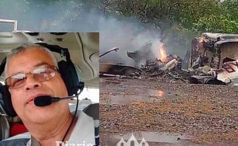 Piloto que falleció en desplome de avioneta