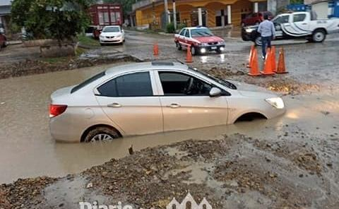 Diluvio causó encharcamiento