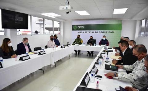 Encabeza el Gobernador, mesa de seguridad en Matehuala