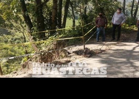 Inspeccionaron daño de la carretera estatal