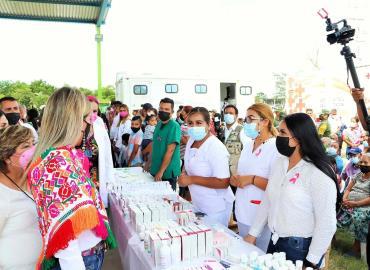 En la zona Tének Feria de la Salud